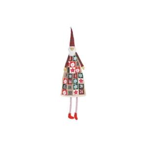 Adventinaptár textil 20' 160cm mikulás lábbal 24 zsebes