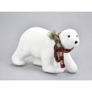 Karácsonyi dekor figura Jegesmedve sállalnagy 10x30x17cm