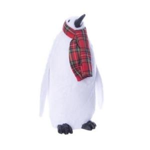 Karácsonyi dekor pingvin 20' sállal álló hungarocell/szövet 27x22x48