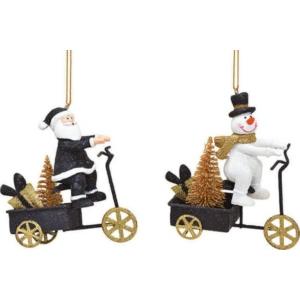 Karácsonyi figura 20' 2féle mintával fekete arany