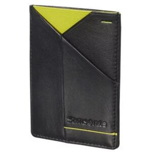 Samsonite pénztárca Outline 2 SLG 108681 fekete/lime