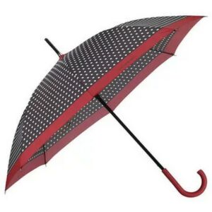 Samsonite esernyő R-Pattern STICK Umbrella 108947/7192 Fekete/fehér pöttyök/vörös