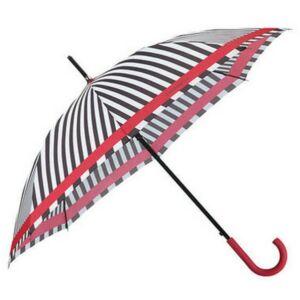 Samsonite esernyő R-Pattern STICK Umbrella 108947/7193 Fekete/fehér csíkok/vörös