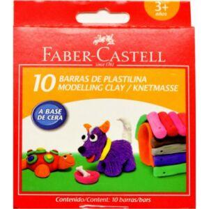 Faber-Castell gyurma 10db plasztik élénk színek prémium minőségű termék