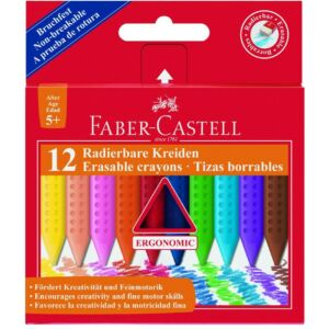 Faber-Castell zsírkréta 12db törölhető 122520 prémium minőségű termék 122520