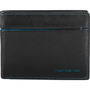 Samsonite pénztárca férfi bőr S-PECIAL SLG 10,5x8,3 63420/4288 fekete/zöld