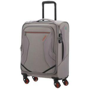 American Tourister kabinbőrönd Eco Wanderer 55/20 TSA 125328/1408 szürke, 4 kerekű, textil