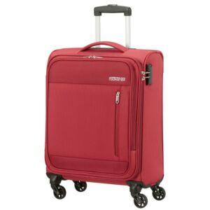 American Tourister kabinbőrönd Heat Wave 55/20 130667/1129 tégla piros, 4 kerekű, texti