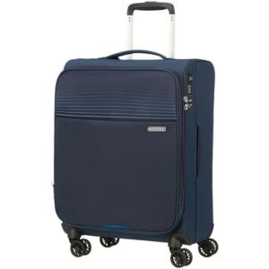 American Tourister kabinbőrönd Lite Ray 55/20 bővíthető bőrönd 130171/1552 Midnight Navy, 4 kerekű, tex