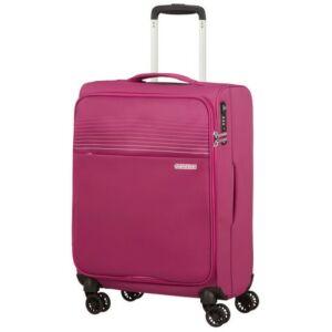 American Tourister kabinbőrönd Lite Ray 55/20 TSA 130170/6076 Magenta Haze, 4 kerekű, text
