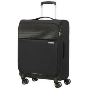 American Tourister kabinbőrönd Lite Ray 55/20 TSA 130170/1465 Jet Black, 4 kerekű, textil