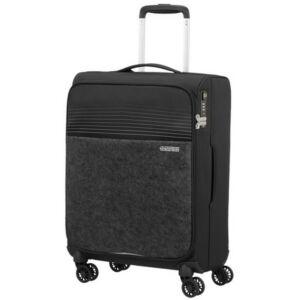American Tourister kabinbőrönd Lite Ray 55/20 TSA FELT 131780/1465 Jet Black, 4 kerekű, textil
