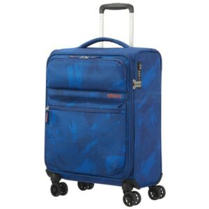 American Tourister kabinbőrönd Matchup 55/20 PRINT TSA 124710/4266 Camo Blue 4 kerekű, textil