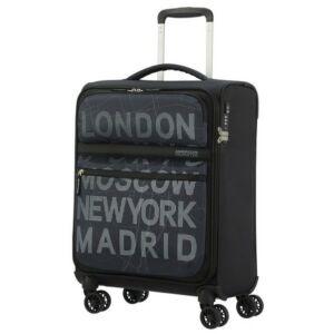 American Tourister kabinbőrönd Matchup 55/20 PRINT TSA 124710/8123 City Map Black 4 kerekű, tex