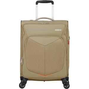 American Tourister kabinbőrönd Summerfunk 55/20 bővíthető bőrönd 124889/1030 bézs, 4 kerekű, textil