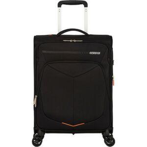 American Tourister kabinbőrönd Summerfunk 55/20 bővíthető bőrönd 124889/1041 fekete, 4 kerekű, textil