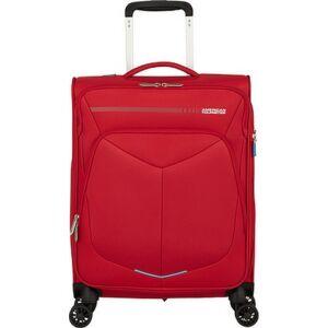 American Tourister kabinbőrönd Summerfunk 55/20 bővíthető bőrönd 124889/1726 piros, 4 kerekű, textil