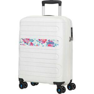 American Tourister kabinbőrönd Sunside 55/20 PRINT 125178/8175 Colour Flowers, 4 kerekű