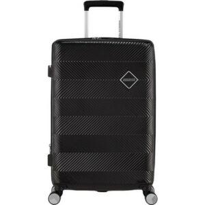 American Tourister bőrönd 67/2 Flylife 67/24 bővíthető bőrönd 125244/1041 fekete, 4 kerekű