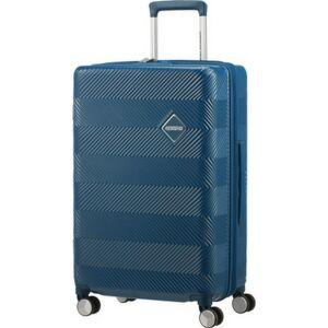 American Tourister bőrönd 67/2 Flylife 67/24 bővíthető bőrönd 125244/1686 Petrol Blue 4 kerekű