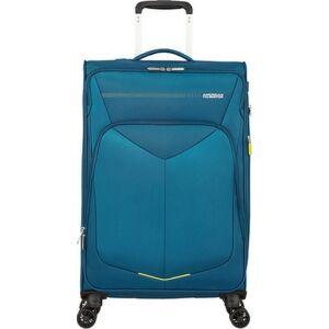 American Tourister bőrönd 67/2 Summerfunk 67/24 bővíthető bőrönd 124890/2824 kékeszöld, 4 kerekű, textil