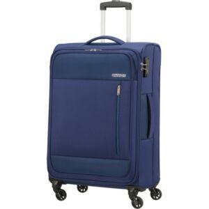 American Tourister bőrönd 68/2 Heat Wave 68/25 TSA 130668/6636 combat navy, 4 kerekű, text