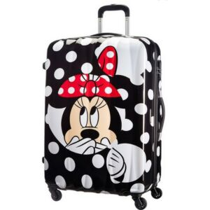 American Tourister bőrönd 75/2 Kemény 4kerekű 52x75x31 82l 4,4kg 64480/4523 - MINNIE Dots