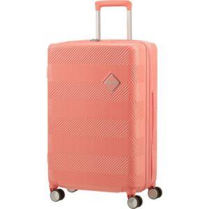 American Tourister bőrönd 77/2 Flylife 77/28 bővíthető bőrönd 125246/B152 Coral Pink, 4 kerekű