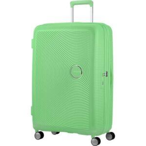 American Tourister bőrönd 77/2 Soundbox 77/28 bővíthető bőrönd 88474/4420 tavaszi zöld, 4 kerekű