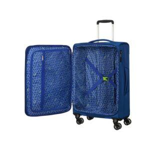 American Tourister bőrönd 80/3 Matchup 80/30 bővíthető bőrönd 124712/1608 neon kék, 4 kerekű, textil
