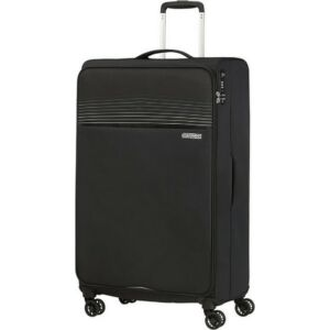 American Tourister bőrönd 81/3 Lite Ray 81/30 TSA 130173/1465 Jet Black, 4 kerekű, textil