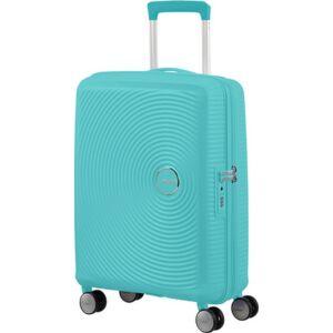 American Tourister bőrönd Soundbox spinner 55/20 Poolside Blue 88472/8864 Poolside Blue - 4 kerekű