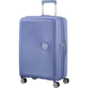 American Tourister bőrönd Soundbox spinner 67/24 Denim Blue 88473/1292 Denim Blue - 4 kerekű