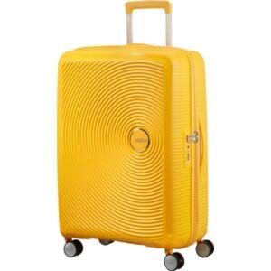 American Tourister bőrönd Soundbox spinner 67/24 Golden Yellow 88473/1371 Golden Yellow - 4 kerekű