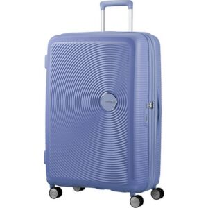 American Tourister bőrönd Soundbox spinner 77/28 Denim Blue 88474/1292 Denim Blue - 4 kerekű