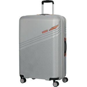 American Tourister bőrönd Triple Trace spinner 76/28 Tsa Exp 134662/9084 Silver/Orange
