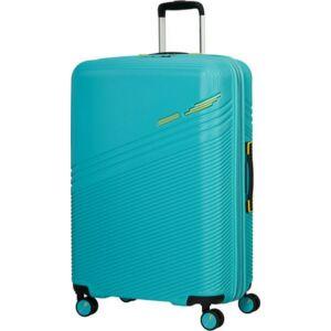 American Tourister bőrönd Triple Trace spinner 76/28 Tsa Exp 134662/6622 Turquoise/Yellow
