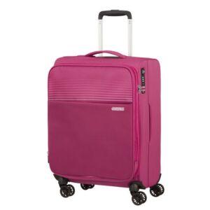 American Tourister kabinbőrönd Lite Ray 55/20 TSA FELT 131780/6076 Magenta Haze, 4 kerekű, text