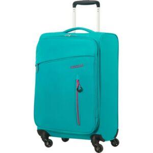 American Tourister kabinbőrönd Litewing 40x55x20cm 1,5kg 4kerekű 89457/5467 aquazöld/pink