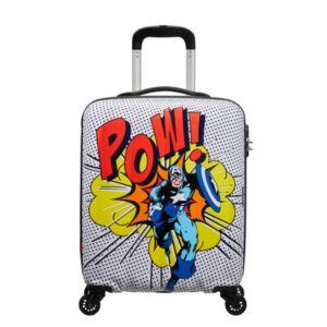 American Tourister kabinbőrönd Marvel Legends Spin.55/20 Alfatwist 2.0 Amerika kapitány Pop Art