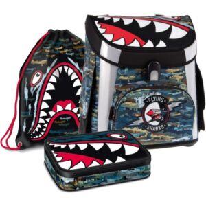 Iskolatáska szett Ars Una 20' Flying Sharks- kollekció