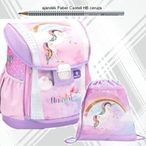 Belmil iskolatáska szett 21' iskolatáska,  tornazsák unicorn