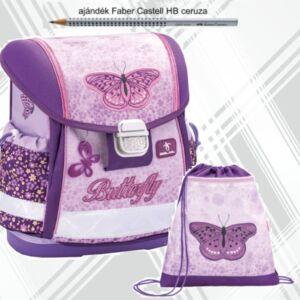 Belmil iskolatáska szett 21 iskolatáska,, tornazsák Shiny Butterfly