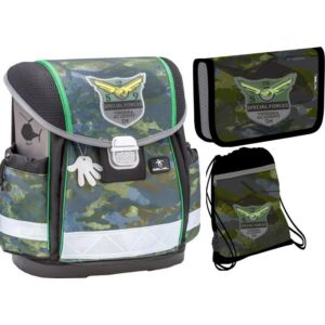 Belmil iskolatáska szett 20' Camouflage iskolatáska tolltartó tornazsák