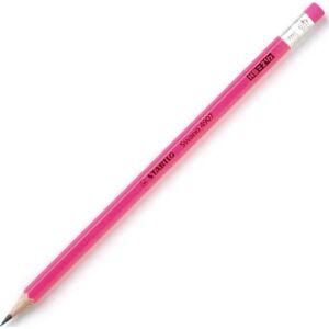 Ceruza HB Stabilo Swano Neon pink hatszögletű radíros - rózsaszín grafitceruza