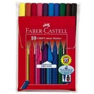 Faber-Castell filckészlet 10db Grip háromszögletű rostiron 155310