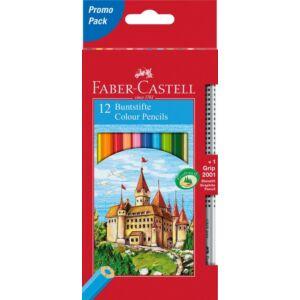 Faber-Castell színes ceruza 12db+1 Grip grafitceruza várak vár Faber-Castell 115850 törésállóheggyel
