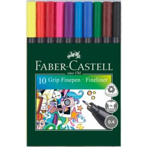 Faber-Castell tűfilckészlet Grip 0,4mm 10db rostiron 151610