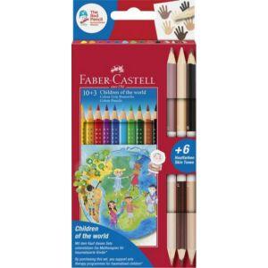 Faber-Castell színes ceruza 10+3db Grip + bicolor 6 bőrszín 201746