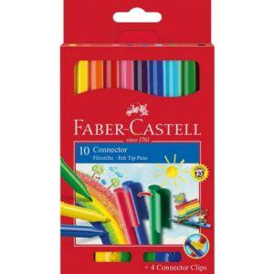 Faber-Castell filckészlet 10+4db Connector klipszes rostiron 155510